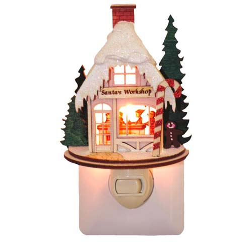 Santa's Workshop Night Light